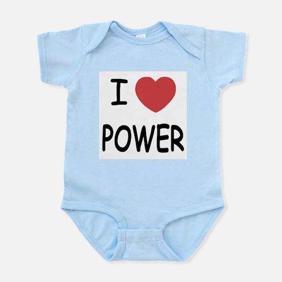 I heart power Infant Bodysuit