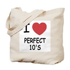 I heart perfect tens Tote Bag