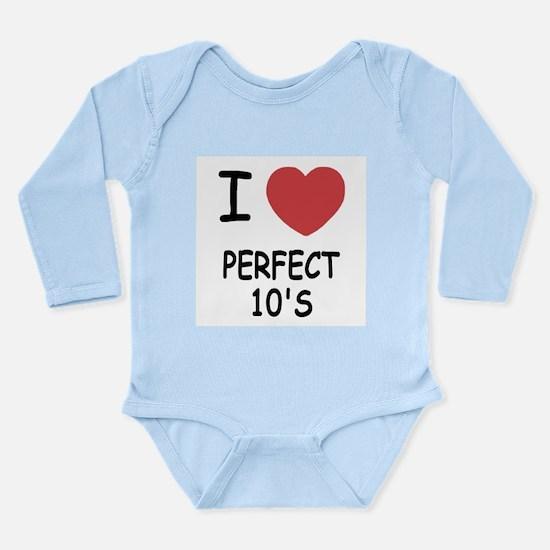 I heart perfect tens Long Sleeve Infant Bodysuit