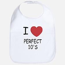 I heart perfect tens Bib