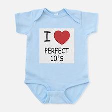 I heart perfect tens Infant Bodysuit