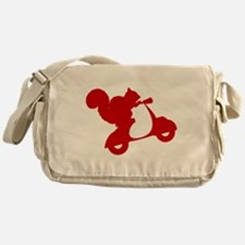 Red Squirrel on Scooter Messenger Bag
