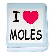 I heart moles baby blanket