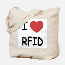 I heart rfid Tote Bag