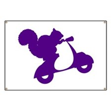 Purple Squirrel on Scooter Banner