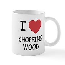 I heart chopping wood Mug