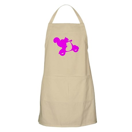 Pink Squirrel on Scooter Apron