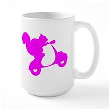 Pink Squirrel on Scooter Mug
