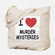I heart murder mysteries Tote Bag