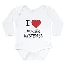 I heart murder mysteries Long Sleeve Infant Bodysu