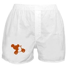 Orange Squirrel on Scooter Boxer Shorts