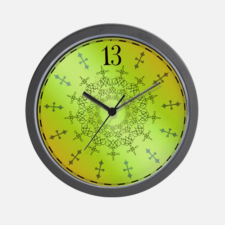 Haunted 13th Hour Mansion Wall Clock