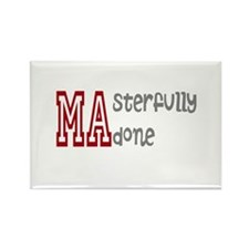 Masterfully Done Rectangle Magnet (100 pack)