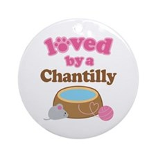 Loved By Chantilly Cat Ornament (Round)