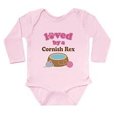 Loved By Cornish Rex Cat Long Sleeve Infant Bodysu
