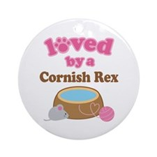 Loved By Cornish Rex Cat Ornament (Round)