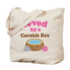 Loved By Cornish Rex Cat Tote Bag