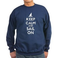 Keep Calm And Sail On Sweatshirt