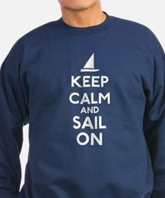 Keep Calm And Sail On Sweatshirt (dark)