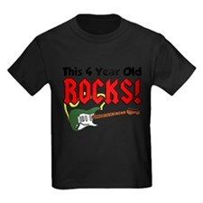 This 4 Year Old Rocks Shirt T-Shirt