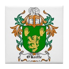 O'Keeffe Coat of Arms Tile Coaster