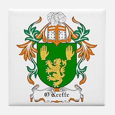 O'Keeffe Coat of Arms Tile Coaster