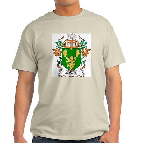 O'Keeffe Coat of Arms Ash Grey T-Shirt