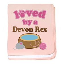 Loved By Devon Rex Cat baby blanket