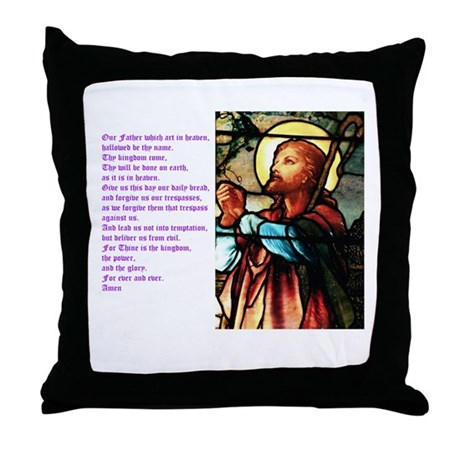 The Lords Prayer Throw Pillow