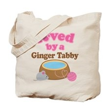 Loved By Ginger Tabby Cat Tote Bag