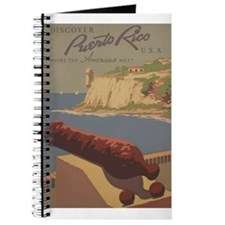 Discover Puerto Rico Travel poster Journal