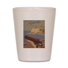 Discover Puerto Rico Travel poster Shot Glass