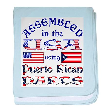USA / Puerto Rican Parts baby blanket