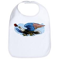 Vintage USA Patriotic American Eagle Flag Bib