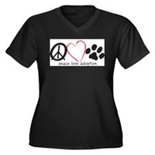 Cute Rescue dog Women's Plus Size V-Neck Dark T-Shirt