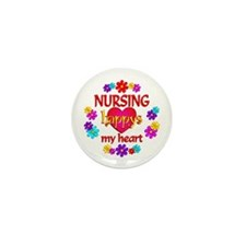 Nursing Happy Mini Button (10 pack)