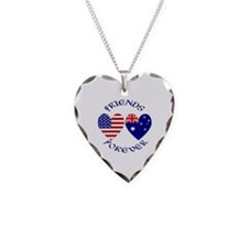 Australia USA Friends Forever Necklace