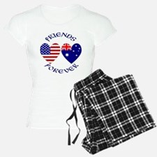 Australia USA Friends Forever Pajamas