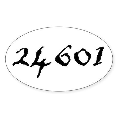 24601 Sticker (Oval 10 pk)