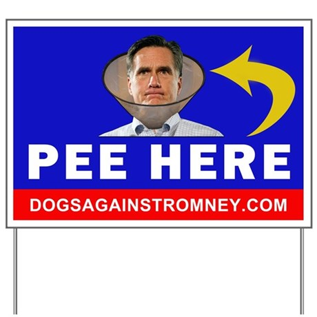 Official Dogs Against Romney Yard Sign