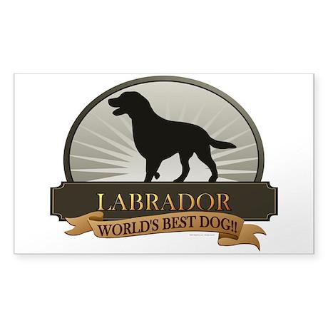 Labrador Sticker (Rectangle)