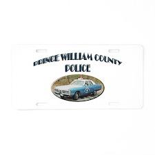 Prince William Police Aluminum License Plate