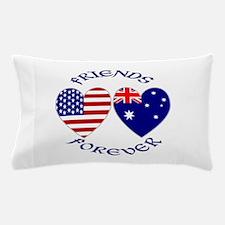 Australia USA Friends Forever Pillow Case