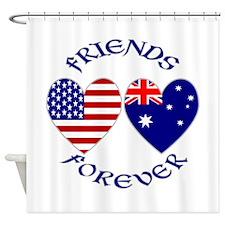 Australia USA Friends Forever Shower Curtain