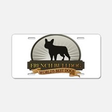 French Bulldog Aluminum License Plate