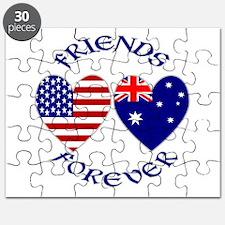 Australia USA Friends Forever Puzzle