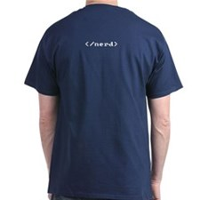 Front/back HTML tag <nerd> T-Shirt