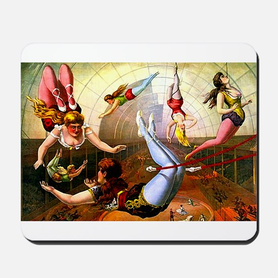 Vintage Flying Trapeze Ladies Circus Poster Art Mo