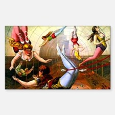 Vintage Flying Trapeze Ladies Circus Poster Art St