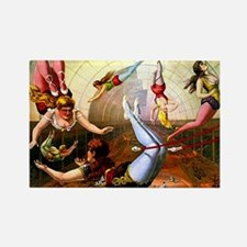 Vintage Flying Trapeze Ladies Circus Poster Art Re